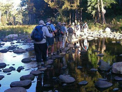 Crossing Carnarvon Creek Guided walking