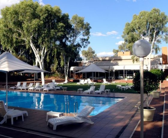 After the natural and cultural experiences of the day there are indulgences and comforts on hand at the Ayers Rock Resort primary facility near Uluru and Kata Tjuta