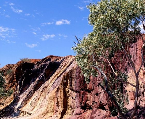 This sacred site of ochre deposits provide pigments to be ground and mixed with Emu fat for ceremonial occasions of the local West Arrernte people.  Also a resource for trading with other Aboriginal groups