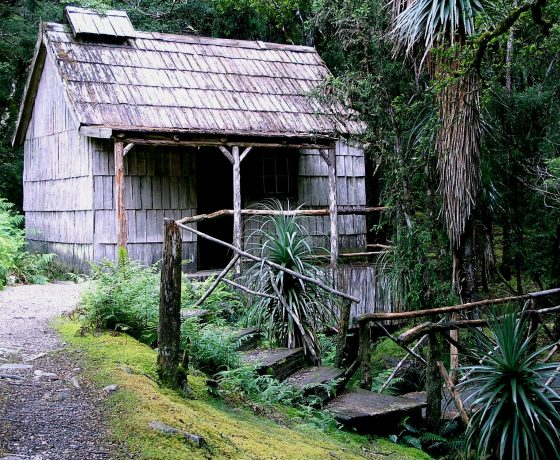 The historic Waldheim Chalet Bath House built by Gustav and Kate Weindorfer founders of today's Cradle Mountain National Park