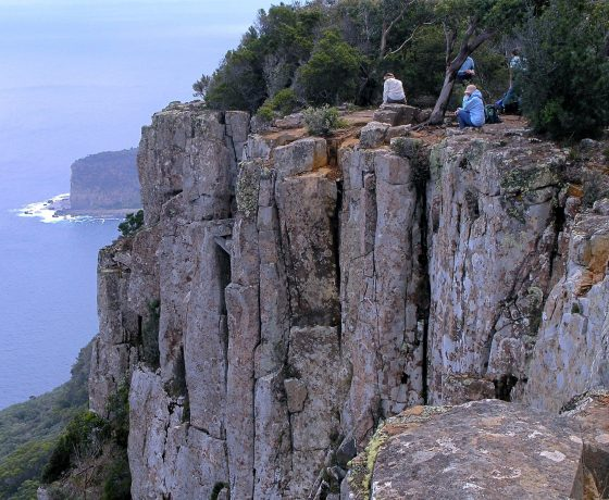 A cliff top lookout from Cape Raoul  trail brings inspiration to all who take the moment to contemplate.