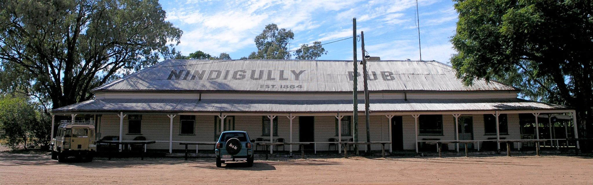 Historic Nindigully Pub, image from a Nature Bound Australia Uniquely Australia tour