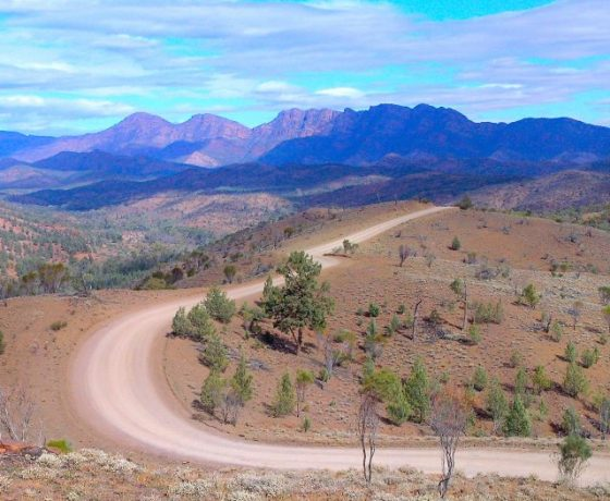 Flinders Ranges scenery in the Outback Tour Australia, the Adelaide to Uluru Tour and Lake Eyre Tours