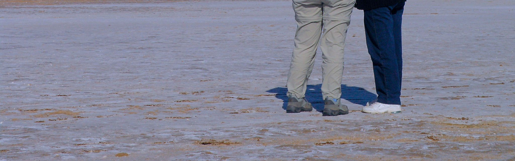 Trusty team members on Lake Eyre