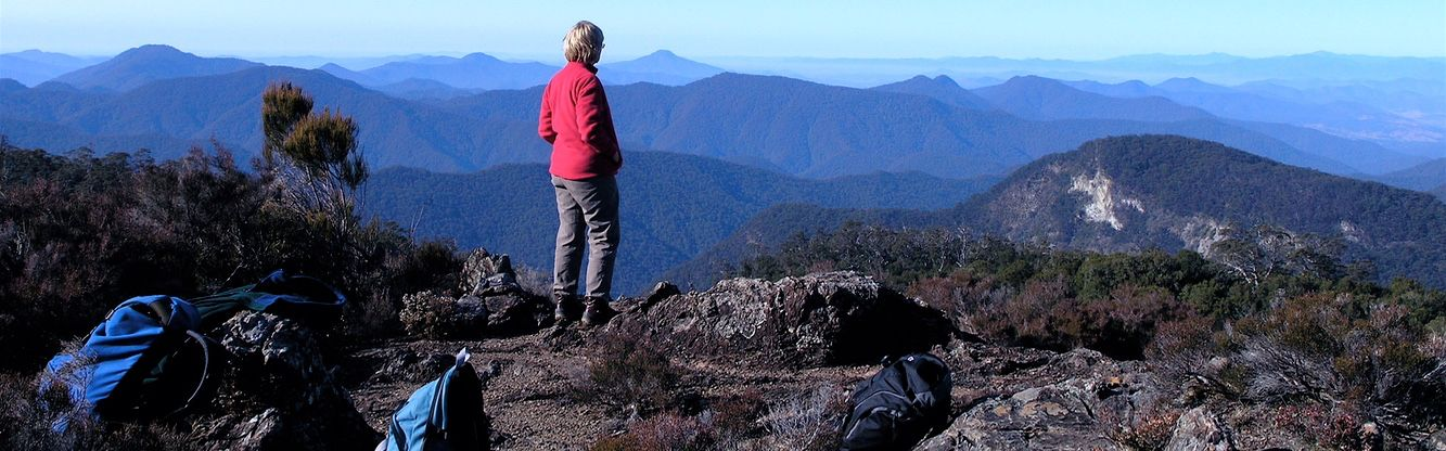 Guide on edge of New England wilderness, Australian World Heritage Gondwana Tour