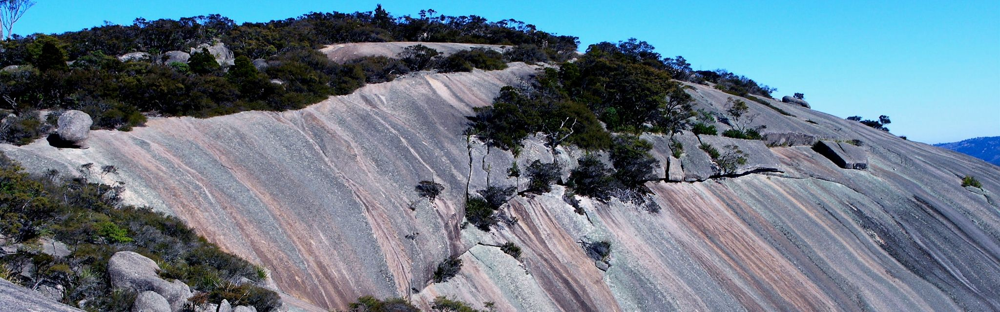 Colourful slopes of Bald Rock discovered on our Uniquely Australia and Great Divide Tours
