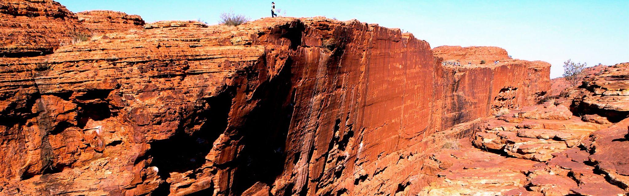 Sheer walls of Kings Canyon taken on Nature Bound Australia Red Centre Tour