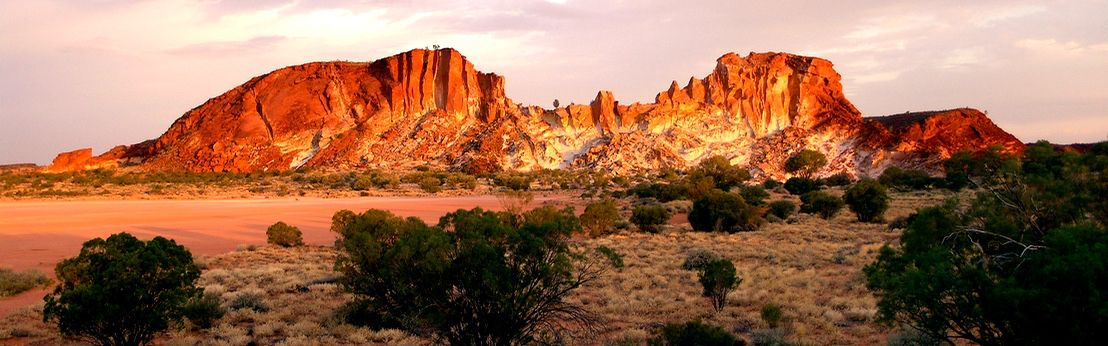 Central Australia Rainbow Valley in full sunset glow during our Red Centre Tour