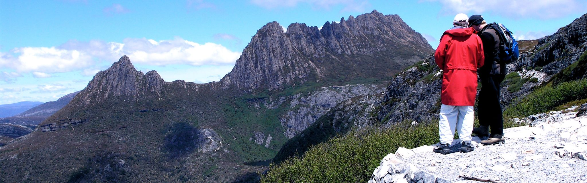 Cradle Mountain from Marion's Lookout on Tasmania National Parks tour