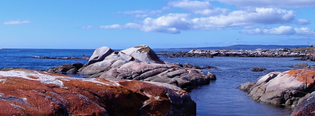 Lichen encrusted granite seascape